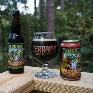2014 Bottle and 2015 Can of Terrapin Beer Co. Moo-Hoo