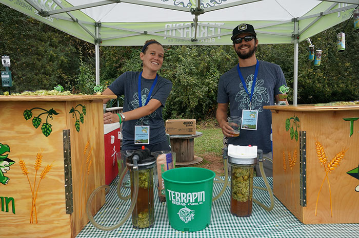Terrapin Beer Co. serving instantly dry hopped beer from tap