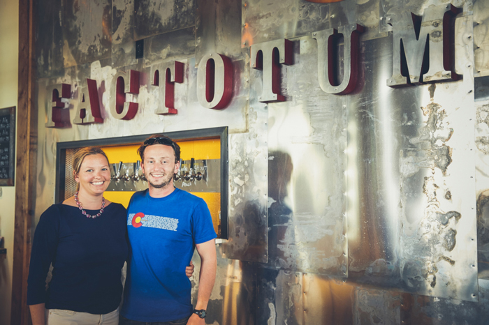 Chris and Laura Bruns of Factotum Brewhouse