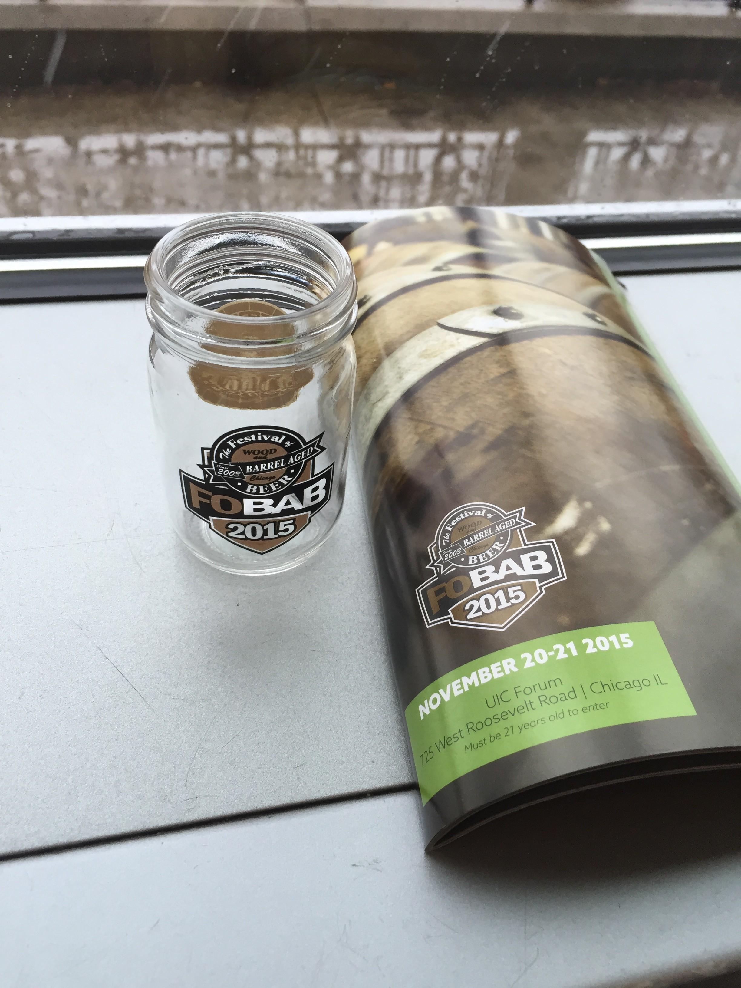 This year's tasting glass was a mini mason jar.