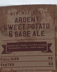 Ardent Sweet Potato & Sage Ale