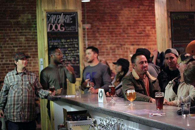 Bar Top at Alpine Dog Brewery
