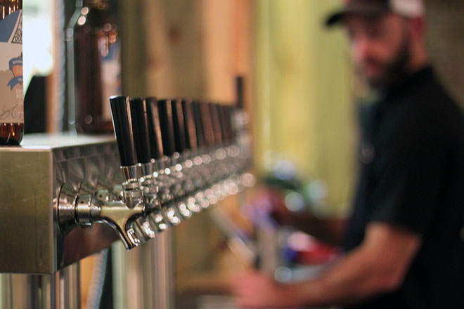 Tap Handles at Alpine Dog Brewery