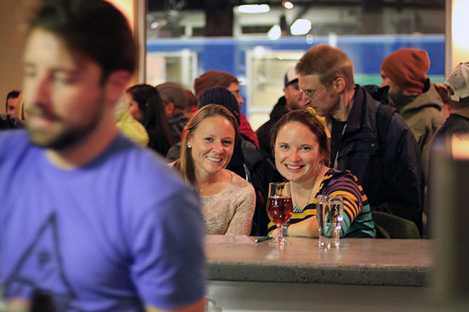 Patrons at Alpine Dog Brewery