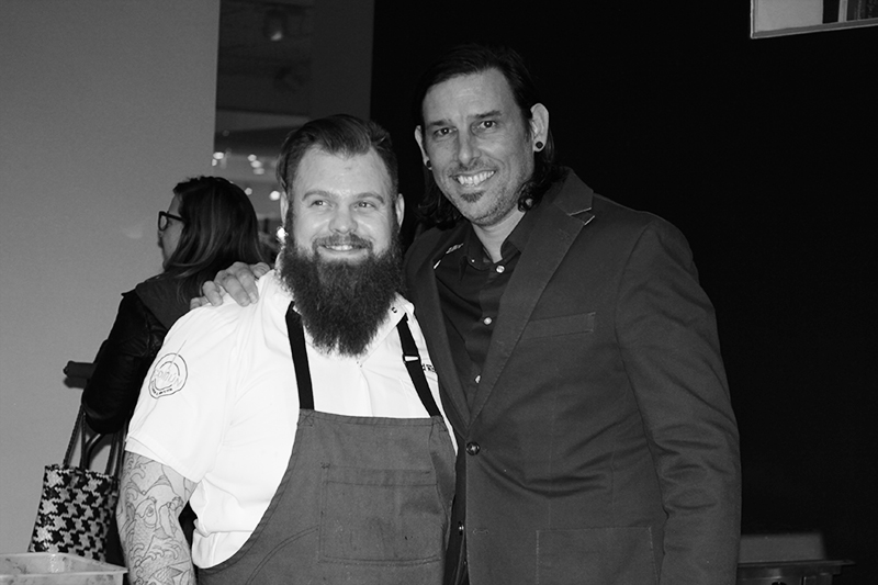 Chef Chad White (left); Chef Marco Rodriguez (right)