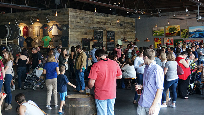 The crowd at Bresta Fiesta, held by Creature Comforts in Athens, Georgia, on Saturday, Oct. 24. (Photo: John Pylant)