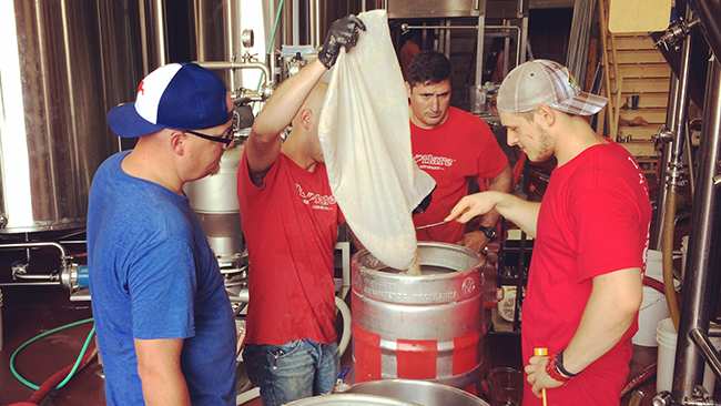 Behind the scenes at the Red Hare brew-off. (Courtesy: Red Hare Brewing Co.)
