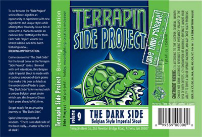 Terrapin The Dark Side Star Wars Themed Beer