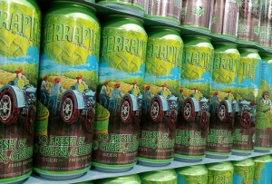 So Fresh So Green Green 2015 cans stacked and ready for shipment