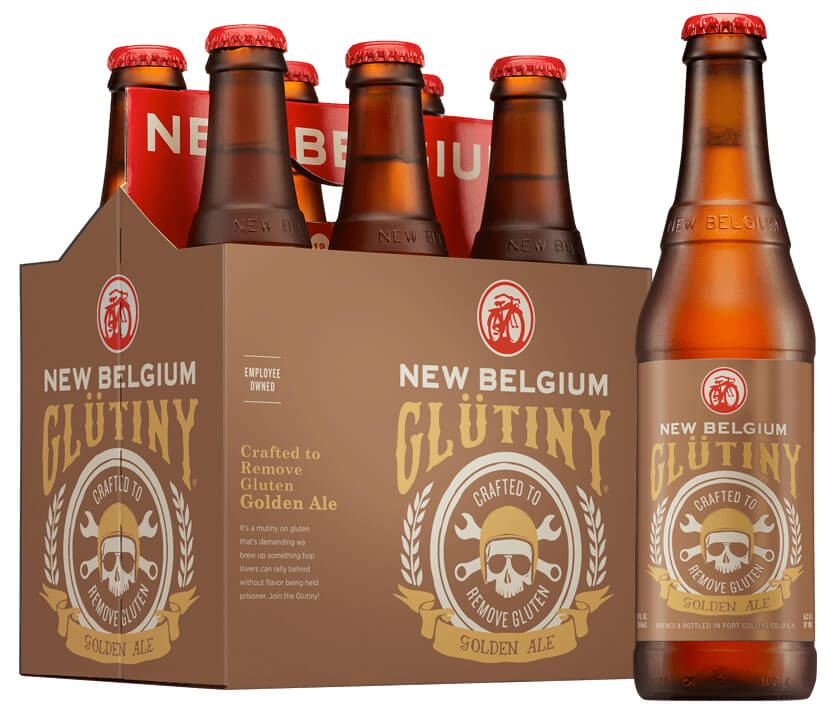 New Belgium Glutiny gluten reduced beer