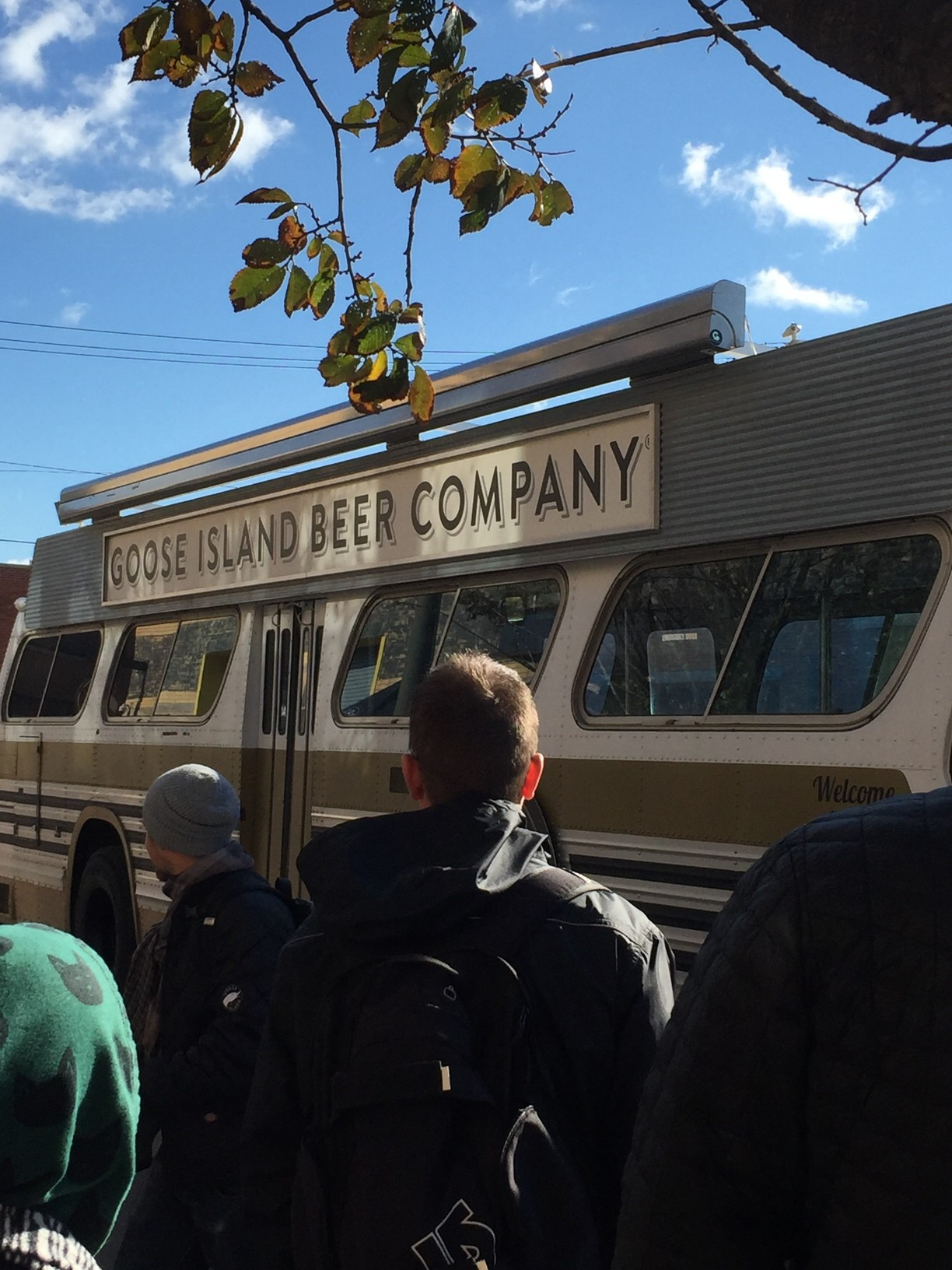 The official Goose Island bus.