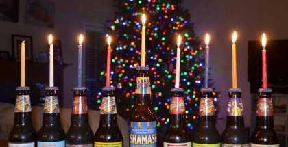 Beer Menorah