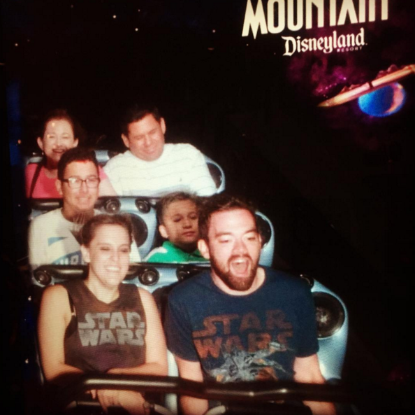 That's me in the Star Wars shirt on the right, in case you couldn't tell.