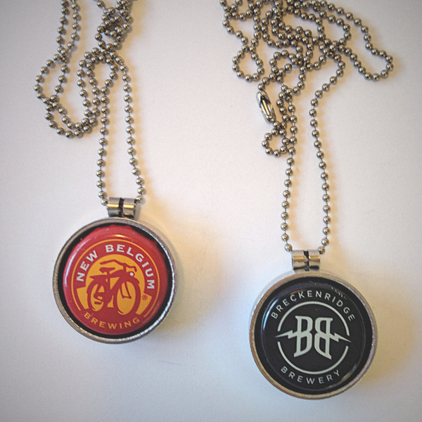 Gals gift guide 100 craft beer gift ideas under 100 for Beer cap jewelry