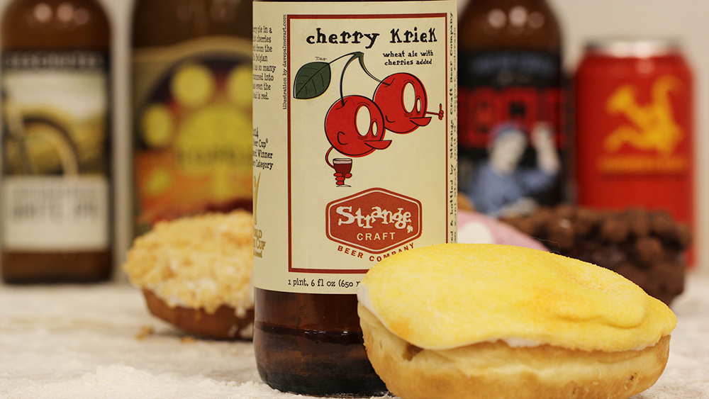 Stange Craft Beer and Mango Tango Beer and Voodoo Doughnuts Pairing