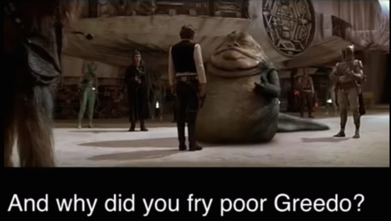 Jabba implicates Han