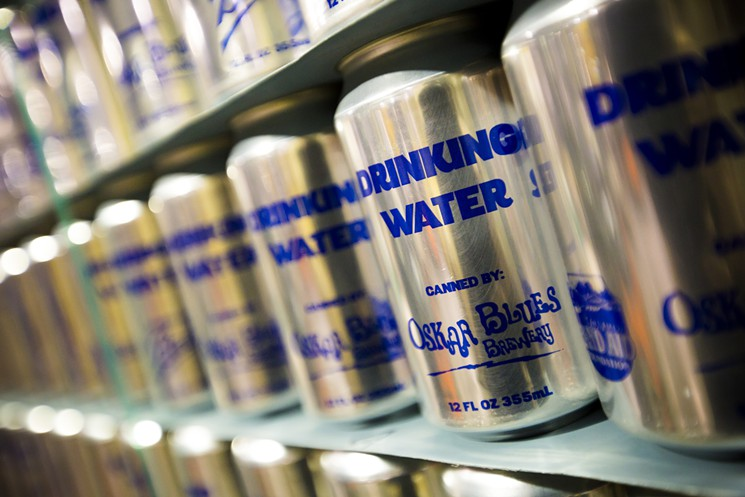 canned water oskar blues