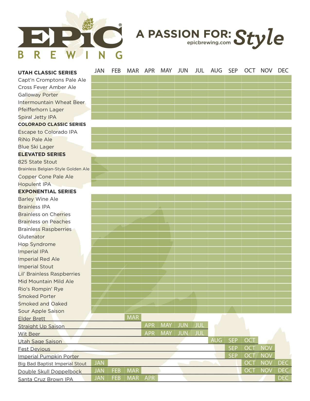 2016 Epic Beer Calendar