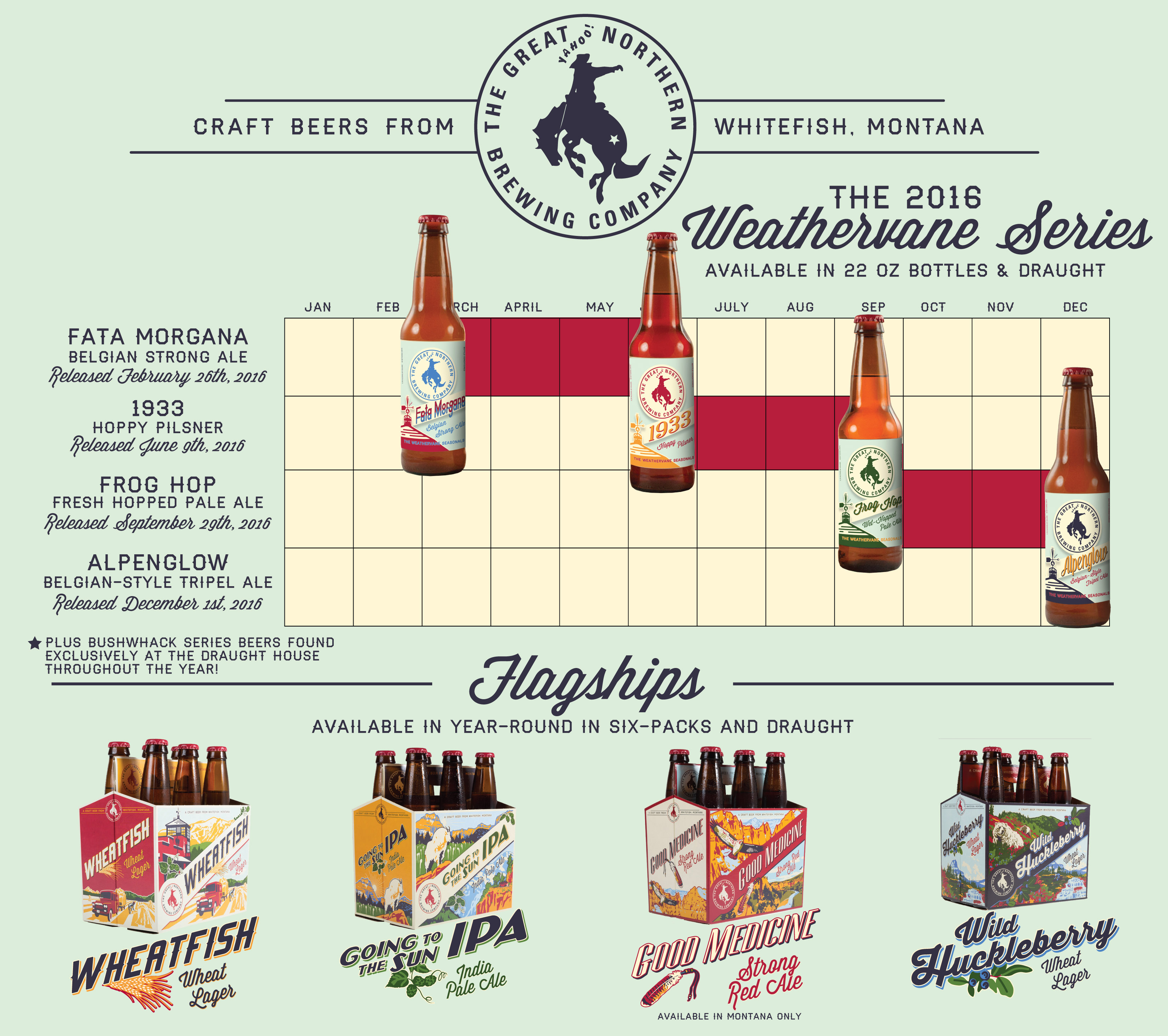 2016 Great Northern Brewing Beer Release Calendar