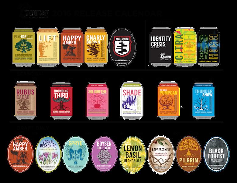 2016 MadTree Brewing Release Calendar