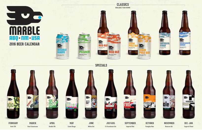 2015 Marble Brewing Beer Release Calendar
