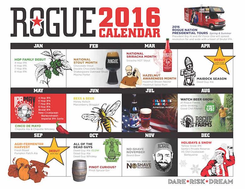 2016 Rogue Beer Release Calendar