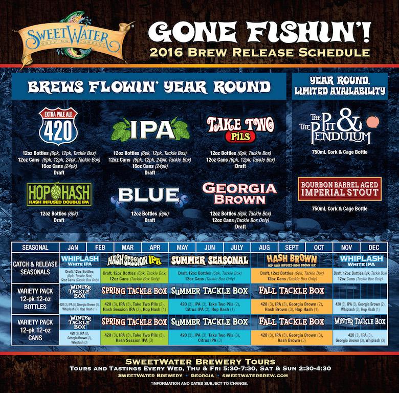 2016 SweetWater Beer Release Calendar