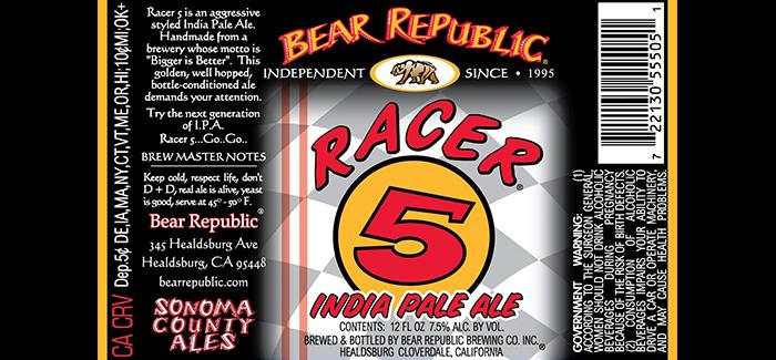 Bear Republic Beer Label