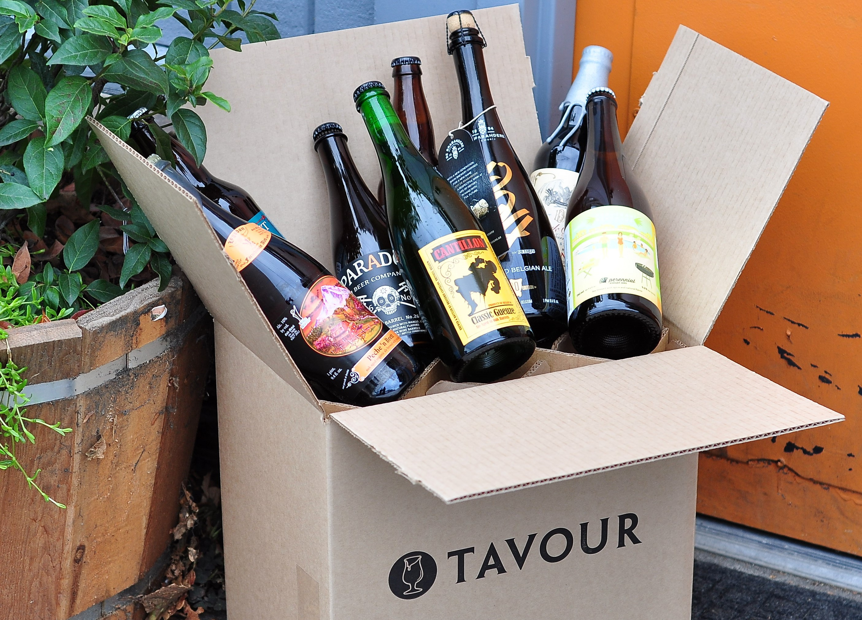 A box of beers you can get shipped directly to your home from Tavour.com