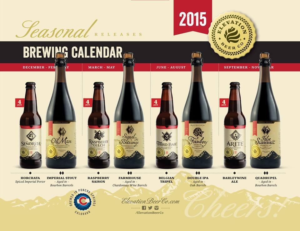 elevation beer company beer calendar
