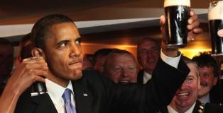 obama cheers beer