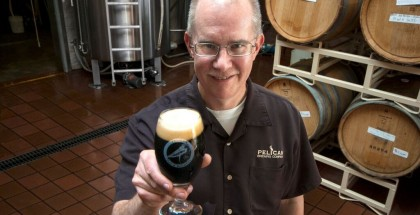 Darron Welch, brewmaster of Pelican Brewing Company