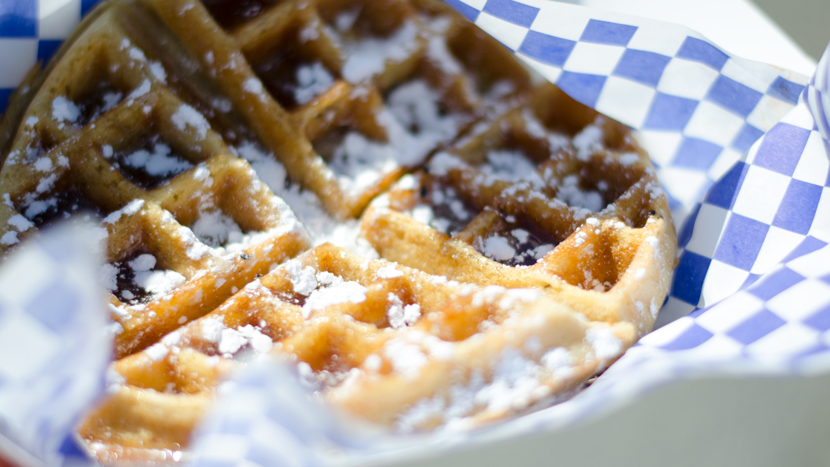 Waffles from Nana G's food truck at Wild Heaven's Galentine's Day. (Credit: Anna Norris)