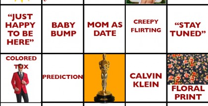 2016 Academy Awards Bingo Card