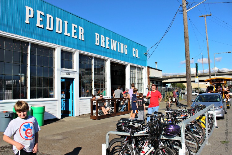 Cycles outside of Peddler's isn't a surprising site. Photo courtesy of Ale Trail Maps