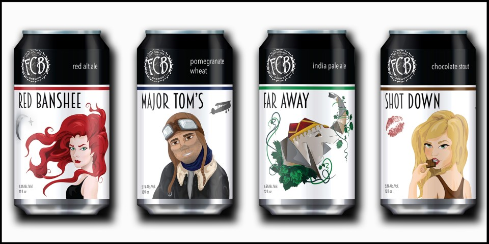 Fort Collins Brewery Rebranded Cans