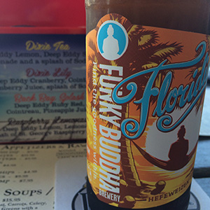 Funky Buddha Floridian Hefeweizen is a flagship, year-round offering from the Oakland Park, Florida, brewery.