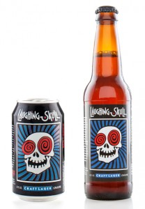 Laughing Skull Lager Can and Bottle