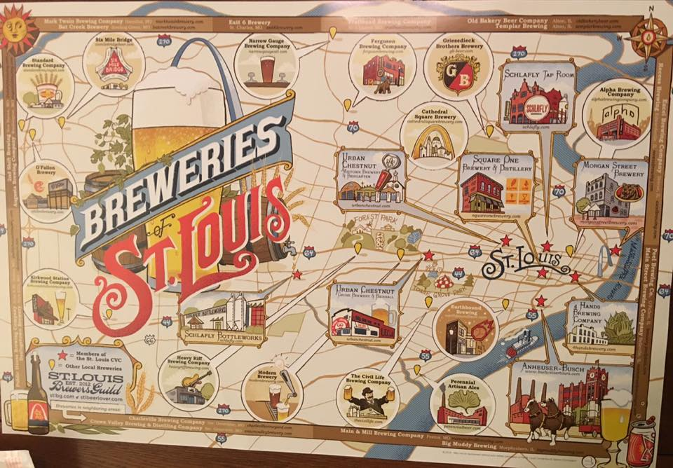 Breweries of St. Louis Map