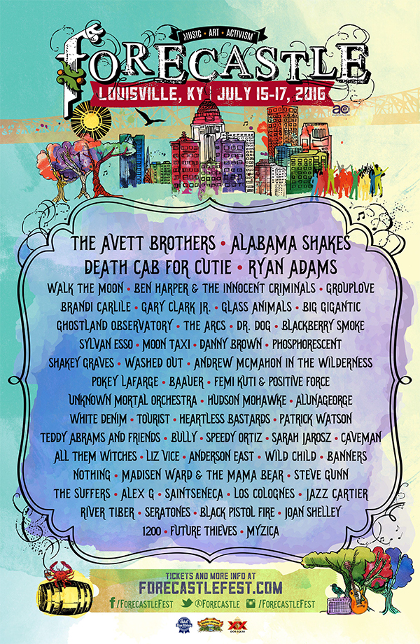 2016 forecastle music festival lineup