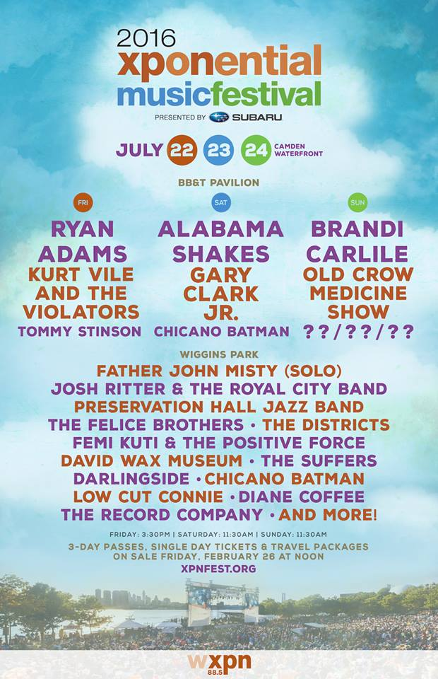 2016 xponential music festival lineup