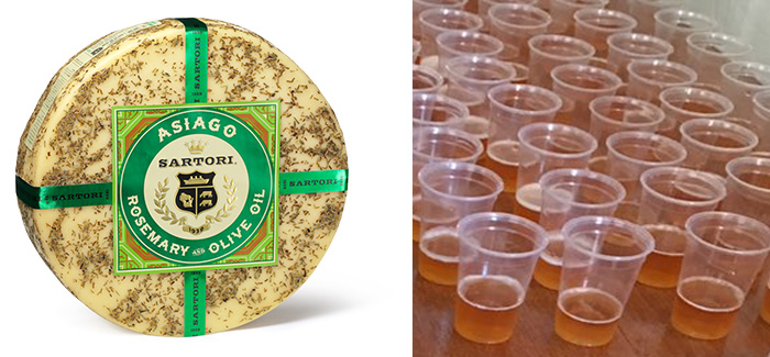 Sartori Rosemary & Olive Oil Asiago + SweetWater I am Gruit