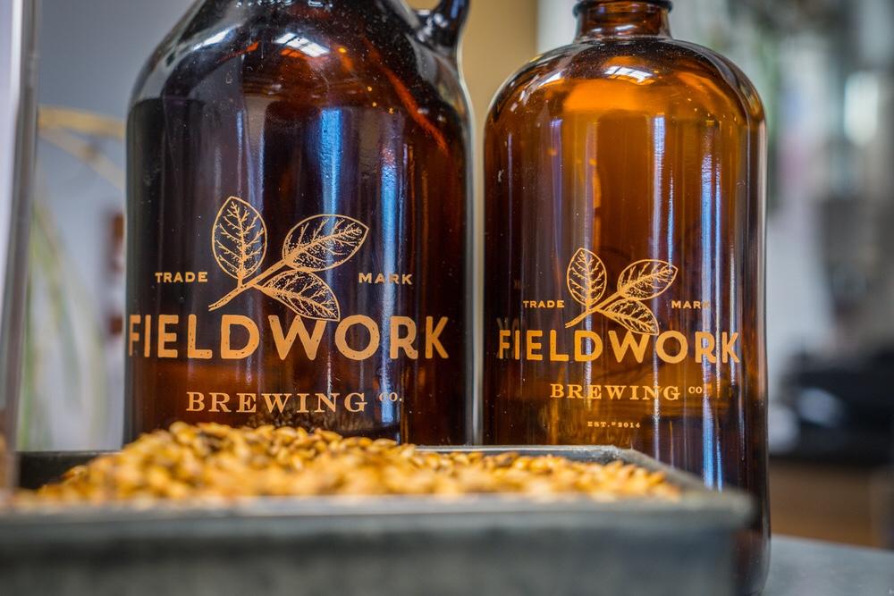 Fieldwork Brewing Growlers (Photo by Suni Sidhu)