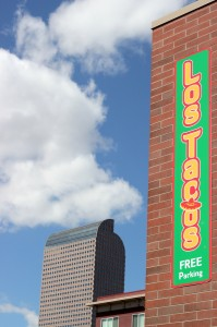 Los Tacos is at E Colfax Ave and Pearl St in Denver, Colorado, and will host the next Confluence Tap.