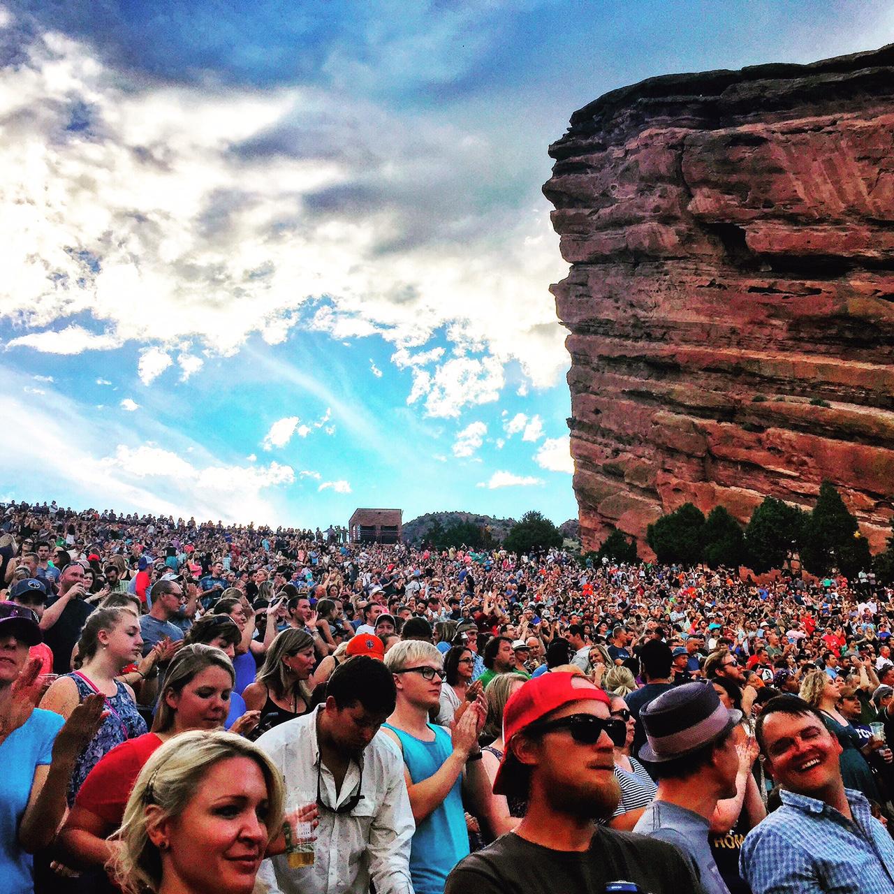 Red Rocks Day Crowd