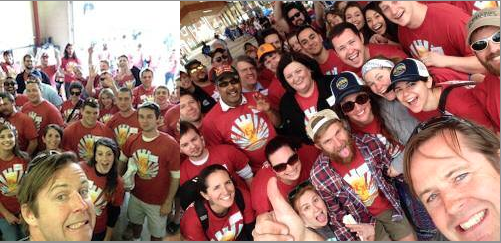 Selfies taken by Aaron Ludwig of the Rocktown Volunteer Staff 2014!