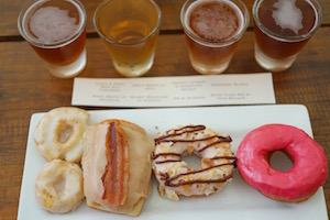 Beer & Donut Pairing featuring Glazed Donut Works