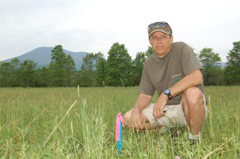 Founder Steve Crandall in May 2006 at future site of Devils Backbone Brewery.