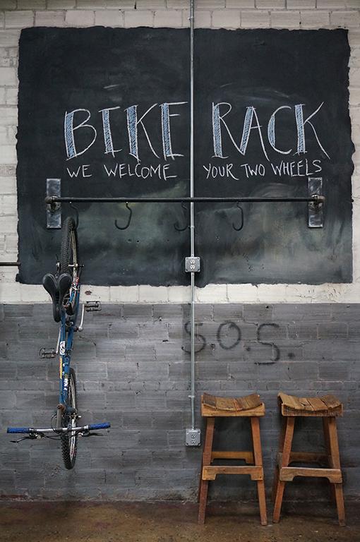 Bike rack at Catawba Brewing Co.