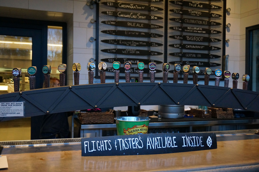 Taps at Sierra Nevada Brewing Co.